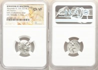 MACEDONIAN KINGDOM. Alexander III the Great (336-323 BC). AR drachm (18mm, 11h). NGC Choice VF. Early posthumous issue of Colophon, ca. 310-301 BC. He...