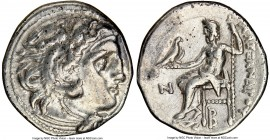 MACEDONIAN KINGDOM. Alexander III the Great (336-323 BC). AR drachm (17mm, 1h). NGC Choice VF. Early posthumous issue of 'Colophon', ca. 310-301 BC. H...
