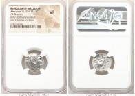 MACEDONIAN KINGDOM. Alexander III the Great (336-323 BC). AR drachm (18mm, 1h). NGC VF. Posthumous issue of uncertain mint in Greece or Macedonia, ca....