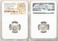 THRACIAN KINGDOM. Lysimachus (305-281 BC). AR drachm (18mm, 4.18 gm, 12h). NGC Choice AU 5/5 - 5/5. Posthumous issue of 'Colophon' in the name and typ...