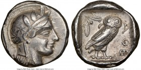 ATTICA. Athens. Ca. 440-404 BC. AR tetradrachm (24mm, 17.14 gm, 11h). NGC Choice VF 5/5 - 4/5, Full Crest. Head of Athena right, wearing crested Attic...
