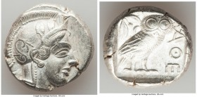 ATTICA. Athens. Ca. 440-404 BC. AR tetradrachm (24mm, 17.15 gm, 2h). XF. Mid-mass coinage issue. Head of Athena right, wearing crested Attic helmet or...