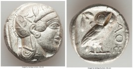 ATTICA. Athens. Ca. 440-404 BC. AR tetradrachm (24mm, 17.19 gm, 2h). XF, test cut. Mid-mass coinage issue. Head of Athena right, wearing crested Attic...