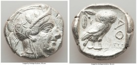 ATTICA. Athens. Ca. 440-404 BC. AR tetradrachm (25mm, 17.02 gm, 1h). VF, marks. Mid-mass coinage issue. Head of Athena right, wearing crested Attic he...