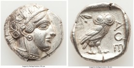 ATTICA. Athens. Ca. 440-404 BC. AR tetradrachm (25mm, 17.15 gm, 2h). Choice XF. Mid-mass coinage issue. Head of Athena right, wearing crested Attic he...