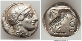 ATTICA. Athens. Ca. 440-404 BC. AR tetradrachm (24mm, 17.18 gm, 4h). Choice XF. Mid-mass coinage issue. Head of Athena right, wearing crested Attic he...