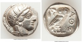 ATTICA. Athens. Ca. 440-404 BC. AR tetradrachm (25mm, 17.13 gm, 3h). Choice VF. Mid-mass coinage issue. Head of Athena right, wearing crested Attic he...
