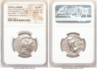ATTICA. Athens. 2nd-1st centuries BC. AR tetradrachm (28mm, 16.79 gm, 11h). NGC Choice VF 5/5 - 4/5. New Style coinage, ca. 119/8 BC, Dionysi-, Dionys...