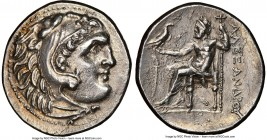 MYSIA. Cyzicus. Ca. early 3rd century BC. AR tetradrachm (29mm, 16.52 gm, 12h). NGC AU 5/5 - 2/5, scratches. Posthumous Alexander types issue, ca. 280...