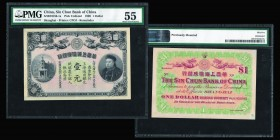 China Empire  Sin Chun Bank  1 Dollar, 1908. Ref : Pick#unlisted, S/M #H186-1a. Remainder Shanghai, Printer : CPOJ Conservation : PMG About Uncirculat...