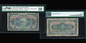 Hunan Provincial Bank 1 Yuan 1928 Ref : Pick#S1951b, S/M#H164-1 Conservation : PMG Very Good 10