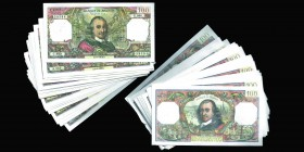 Banque de France Lot de 203 billets de 100 Francs Marie Corneille Ref : Pick#149 Conservation : EF