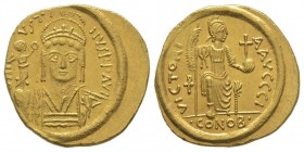 Justin II 565-578 Solidus, Constantinople, AU 4.44 g. Ref : MIB 4, Sear 345 Conservation : Superbe