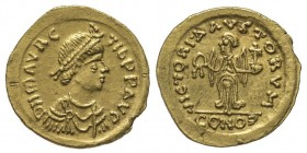 Maurice Tiberius 582-602 Tremissis, Rome, 583, AU 1.48 g. Ref : Hahn 36, Sear 586b Conservation : Superbe