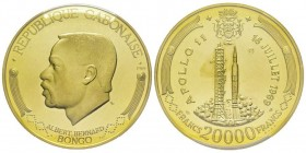 GABON 20000 Francs, 1969, Apollo 11, AU 70 g. 900 ‰ Ref : Fr. 5 Conservation : PCGS PROOF 64 DEEP CAMEO