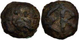 Kings of Skythia. Skyles, Nikonion. Circa 470-460 BC. Æ (11mm, 1.99g, 9h). Owl standing left, head facing. Rev. ΣK. Anokhin 571; SNG BM Black Sea -; S...