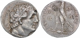 Ptolemaic kingdom of Egypt. Ptolemy II Philadelphos. 285-246 BC. AR Tetradrachm (26mm, 14.28g, 11h). Joppa mint. Dated RY 37 (249/8 BC). Diademed head...
