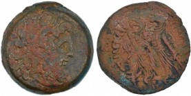 Ptolemaic kingdom of Egypt. Ptolemy VIII Euergetes II (Physcon). 145-116 BC. Æ (27mm, 23.87 g, 11h). Alexandreia mint. Series 7. Diademed head of Zeus...