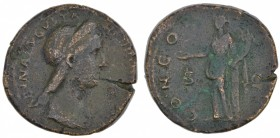 Sabina. Augusta, AD 128-136/7. Æ Sestertius (30mm, 22.68g, 6h). Rome mint. Struck under Hadrian, circa AD 128-134. Diademed and draped bust right / Ju...