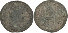 Otacilia Severa, wife of Philip I AD 244-249. Æ Sestertius (28mm, 18.92g, 12h). MARCIA OTACIL SEVERA AVG, diademed and draped bust right / PVDICITIA A...
