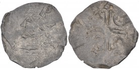 Belgium. Lower Lorraine. Albert II 1031-1063. AR Denar (17mm, 1.05g). Dinant mint. [A LBE]RT[VS], diademed bust left / ðEO[N]A[M], dual crosslines wit...