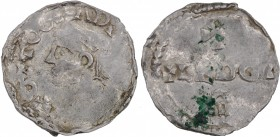 Belgium. Lower Lorraine. Otto III 983-1002. AR Denar (18mm, 1.36g). Liege mint. + OTTO GRA D [I REX], diademed bust left / S - +LEDGI – A, three-line ...
