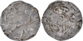Lower Lorraine. Konrad II 1024-1039. AR Denar (19mm, 1.15g). Maastricht mint. [CON] RA [DVSII], diademed bust left / [ TRAIE]CTV[ M], crosier left. Il...