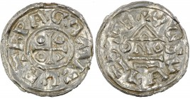 Czech Republic. Bohemia. Boleslav III. 999 - 1002, 1003. AR Denar (19mm, 0.91g). Prague mint; moneyer Mizleta. +RPAGA MIZLIT, cross with annulets in t...