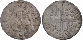 Denmark. Knud den Store (the Great). 1019-1035. AR Penning (19mm, 1.58 g, 4h). Quatrefoil type, Lund mint. Struck after 1018. + CNVT REX ANGLORVM, cro...