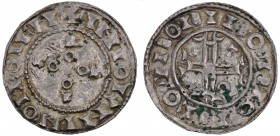 Denmark. Svend Estridsen. 1047-1075. AR Penning (16mm, 1.12 g). Slagelse mint. +INIOIININOICOIFN, a cross made up of annulets and small crosses within...