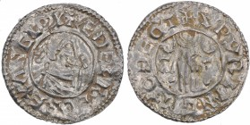 England. Aethelred II. 978-1016. AR Penny (20mm, 1.43 g, 9h). Second hand type (BMC iid, Hild. B2). Thetford mint; moneyer Sperling. Struck circa 985-...