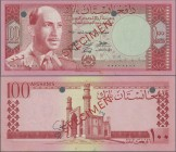 "Afghanistan: Da Afghanistan Bank 100 Afghanis SH1340 (1961) SPECIMEN, P.40s with red overprint ""Specimen"", punch hole cancellation and zero serial num..."
