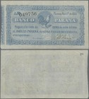 Argentina: Banco Parana 1/2 Real 1868, P.S1811a, small tear at center, some folds. Condition: F+