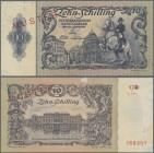 "Austria: Österreichische Nationalbank 10 Schilling 1950 SPECIMEN with overprint ""2. Auflage"" on reverse, P.128s with red overprint and perforation ""Mu..."