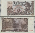 "Austria: Österreichische Nationalbank 500 Schilling 1953 SPECIMEN, P.134s with red overprint and perforation ""Muster"", regular serial number on revers..."
