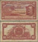 Bahamas: The Bahamas Government 10 Shillings L.1919, P.6 with portrait of King George V, small margin splits, toned paper and tiny pinholes at center ...