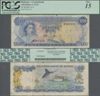 Bahamas: The Central Bank of the Bahamas 100 Dollars L.1974 with signature W.C. Allen, P.41b, highest denomination of this series and very popular ban...