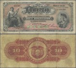 Bolivia: El Banco del Comercio 10 Bolivianos 1900, P.S133, still nice with strong paper, lightly stained, some folds and tiny tear at lower margin. Co...