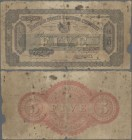 British North Borneo: The British North Borneo Company 5 Dollars 1922, P.4b, extraordinary Rarity in still good condition, some margin split, toned an...