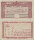 Burma: Set with 10 pcs. 10 Rupees Post Office 5-Year Cash Certificate, series 1945 remainder, P.NL in aUNC/UNC condition. (10 pcs.)