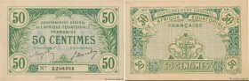 Country : FRENCH EQUATORIAL AFRICA  Face Value : 50 Centimes   Date : (17 octobre 1917)  Period/Province/Bank : Gouvernement Général de l'AEF, nécessi...