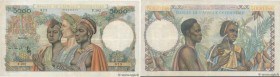 Country : FRENCH WEST AFRICA (1895-1958)  Face Value : 5000 Francs   Date : 22 décembre 1950  Period/Province/Bank : Banque de l'Afrique Occidentale  ...