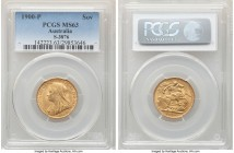 Victoria gold Sovereign 1900-P MS63 PCGS, Perth mint, KM13, S-3876. A difficult choice designation for the issue, and presently the second-highest gra...