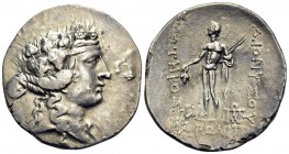 THRACE. Maroneia. Circa 189/8-49/5 BC. Tetradrachm (Silver, 29.5 mm, 14.30 g, 12 h). Head of youthful Dionysos to right, wearing ivy wreath. Rev. ΔΙΟΝ...