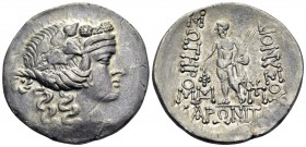 THRACE. Maroneia. Circa 189/8-49/5 BC. Tetradrachm (Silver, 31.5 mm, 13.55 g, 1 h). Head of youthful Dionysos to right, wearing ivy wreath. Rev. ΔΙΟΝΥ...