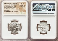 MACEDONIAN KINGDOM. Alexander III the Great (336-323 BC). AR tetradrachm (24mm, 17.08 gm, 9h). NGC Choice AU 4/5 - 4/5. Susa, ca. 316-311 BC. Head of ...