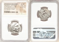MACEDONIAN KINGDOM. Alexander III the Great (336-323 BC). AR tetradrachm (25mm, 17.19 gm, 5h). NGC Choice XF 4/5 - 4/5. Posthumous issue of Amphipolis...