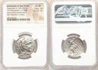 MACEDONIAN KINGDOM. Alexander III the Great (336-323 BC). AR tetradrachm (26mm, 17.22 gm, 11h). NGC Choice XF 4/5 - 4/5. Posthumous issue of Amphipoli...