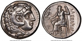MACEDONIAN KINGDOM. Alexander III the Great (336-323 BC). AR tetradrachm (26mm, 7h). NGC Choice XF. Lifetime or early posthumous issue of 'Pella', ca....
