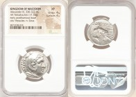 MACEDONIAN KINGDOM. Alexander III the Great (336-323 BC). AR tetradrachm (25mm, 17.15 gm, 3h). NGC XF 4/5 - 4/5. Posthumous issue of Amphipolis, under...